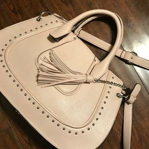 Franco Sarto Champagne Pink Faux Leather Bag